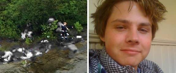 Håkon Sandbakken, 22, överlevde massakern på Utöya. Foto: Scanpix och Privat