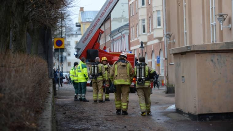 En hög smäll hördes på Tingvallagymnasiet. Foto: David Hårseth
