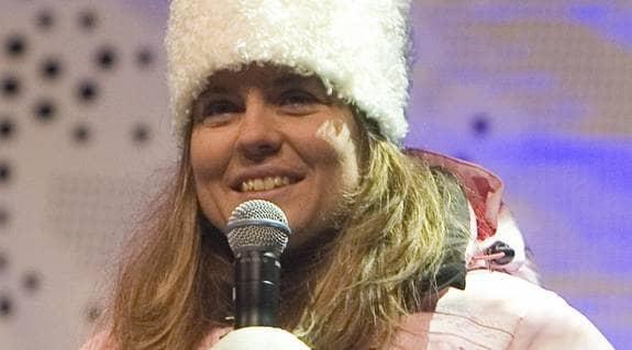Pernilla Wiberg fick mängder av frågor om graviditeten när hon var VM-expert i SVT i våras. Foto: Bildbyrån