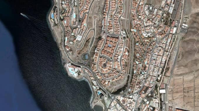 Det var under lördagen som olyckan inträffade på ett av Vings hotell på Gran Canaria. Foto: Google maps