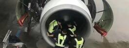 Skrockfull resenär kastade mynt i flygmotorn – för att få tur