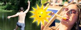 En av juli månads soligaste dagar – passa på att bada