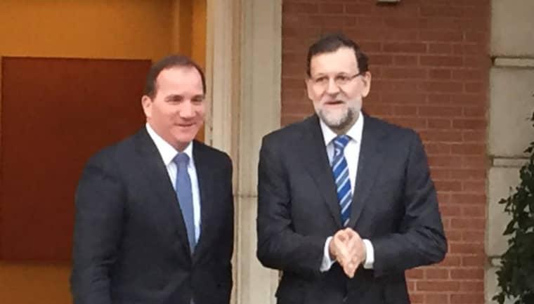 Stefan Löfven och Spaniens premiärminister Mariano Rajoy i Madrid. Foto: Niklas Svensson