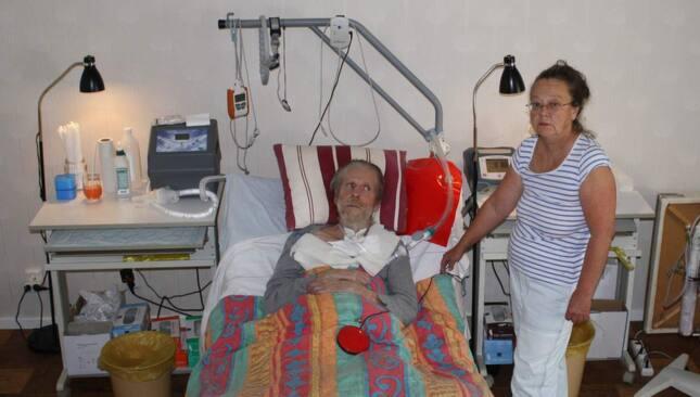 Herrljunga kommun har beslutat att tvångsförflytta Hans Andersson till ett äldreboende för att spara pengar. Foto: Privat