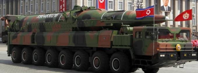 Vapnen visades upp under militärparaden. Nu säger experter att det bara är låtsasvapen. Foto: Ng Han Guan