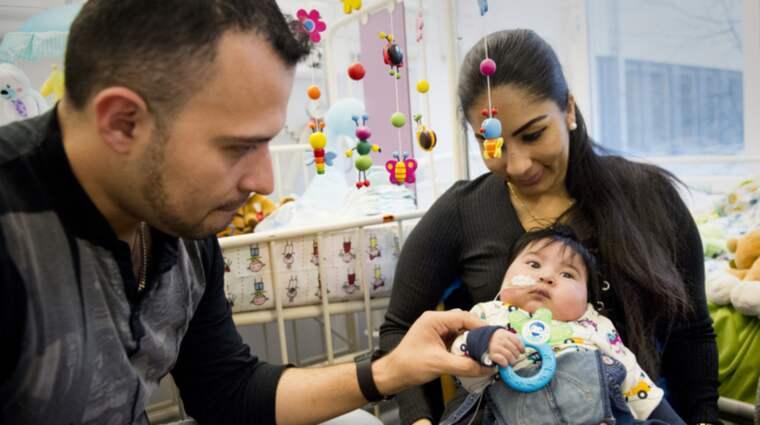 Jean-Luc, 4 månader föddes med allvarligt hjärtfel. Dessutom saknar han vänster njure och har bara en fungerande lunga. Foto: Rickard Nilsson