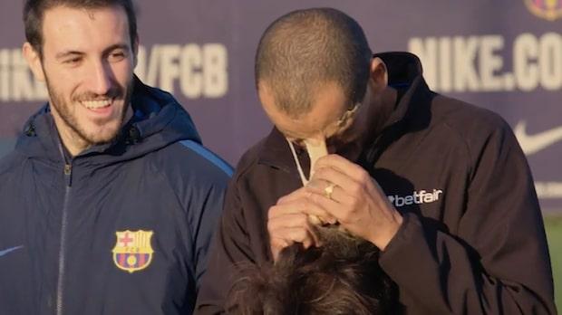 Här överraskar Barçaikonen fansen - de tror knappt sina ögon