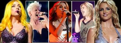 """MONSTERHITS. Världsstjärnorna Britney Spears och Lady Gaga tar gärna hjälp av svensa producenter. Max Martin har redan gjort Britneys jättehit """"Baby one more time"""" och RedOne Gagas """"Bad Romance"""". Foto: ALL OVER PRES / STEFAN SÖDERSTRÖM"""