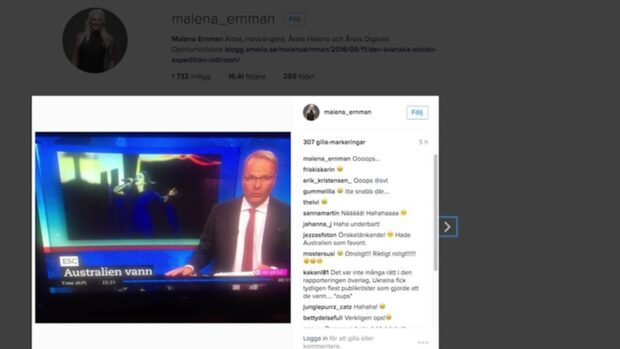 SVT:s miss efter finalen - skrev fel vinnare