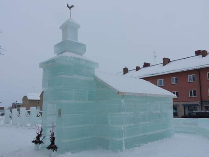 Iskyrkan i Vilhelmina kommer att vara färdigbyggd i februari. Nu saknas bara hugade brudpar som är sugna på ett cool bröllop.