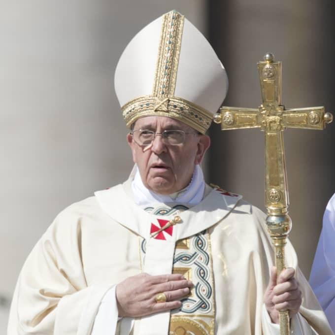 Påve Fransciskus på påsk förra året. Foto: Agf S.R.L./Rex