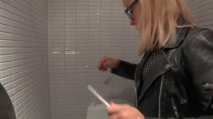 Toaletten på Stockholms centralstation är ren och har ett värde långt under gränsvärdet för vården.