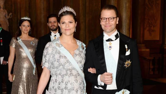 Victoria gjorde sista galamiddagen före nya kungliga bebisen. Foto: Pelle T Nilsson/Aop-Ibl