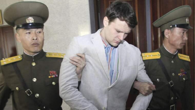 Studenten Otto Warmbier dömdes till 15 års straffarbete. Foto: Jon Chol Jin/AP/TT