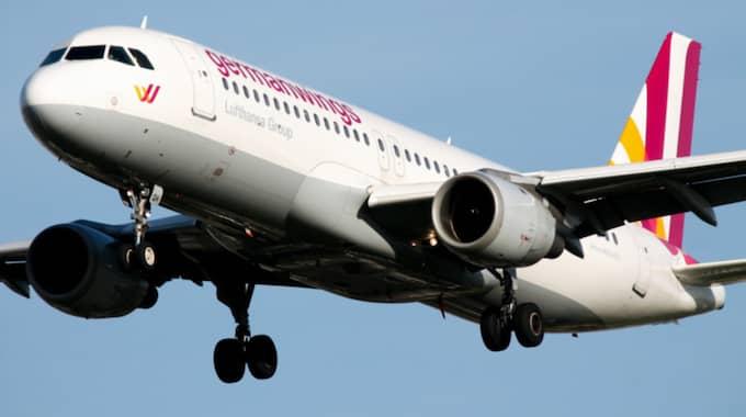 Planet som kraschade i de franska Alperna tillhörde flygbolaget Germanwings. Foto: Picturematt/Rex