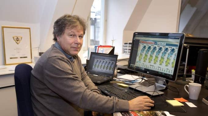 Meteorologen Johan Groth. Foto: Ylwa Yngvesson