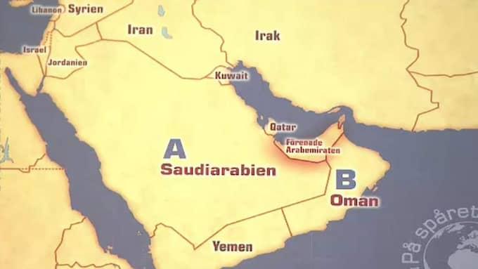 Karta där de båda länderna bytt plats. Foto: SVT