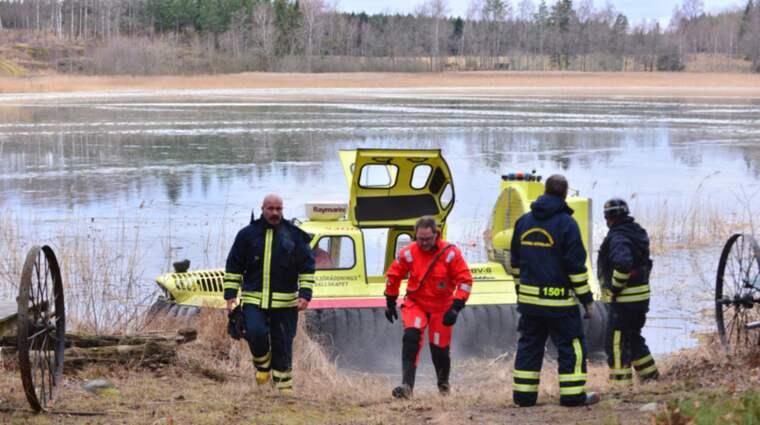 Räddningstjänsten sökte på fredagen efter en person vid Skärblacka utanför Norrköping. Foto: Niklas Luks