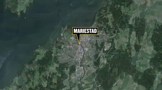 Den brutala attacken skedde i Mariestad. Foto: Google maps