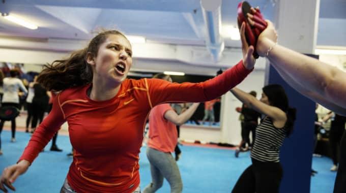 Mika Troell, 16 år, har valt att gå en kurs i självförsvar. Foto: Lisa Mattisson
