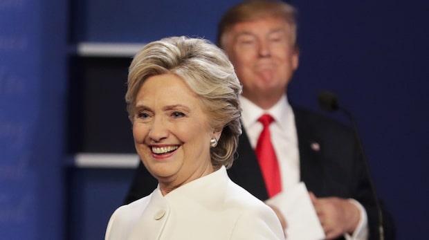 Hillary Clinton i ledning i viktiga delstater