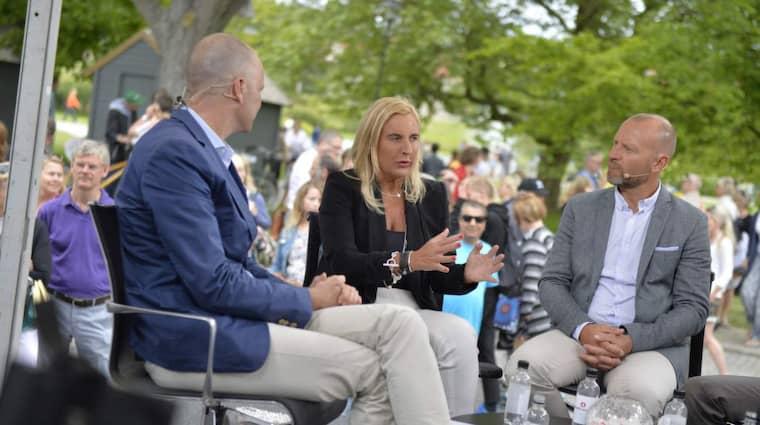 Gunilla Herlitz, vd för Expressen, lämnade på måndagen beskedet att Bonnier är intresserade av att köpa Aftonbladet. Foto: Anna-Karin Nilsson