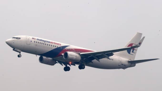 Planet på bilden är av samma modell som försvunna MH370. Foto: Ahmad Yusni / Epa / Tt