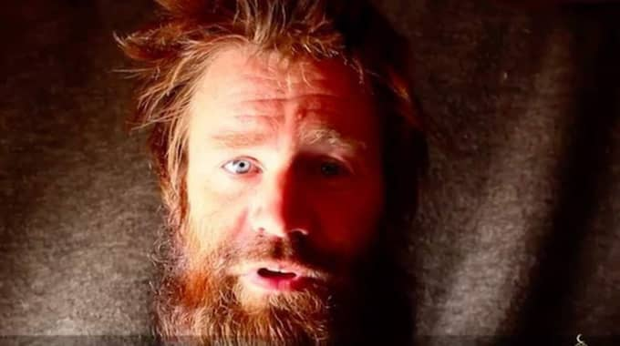 Johan Gustafsson har varit kidnappad i över fyra år. Foto: Skärmdump