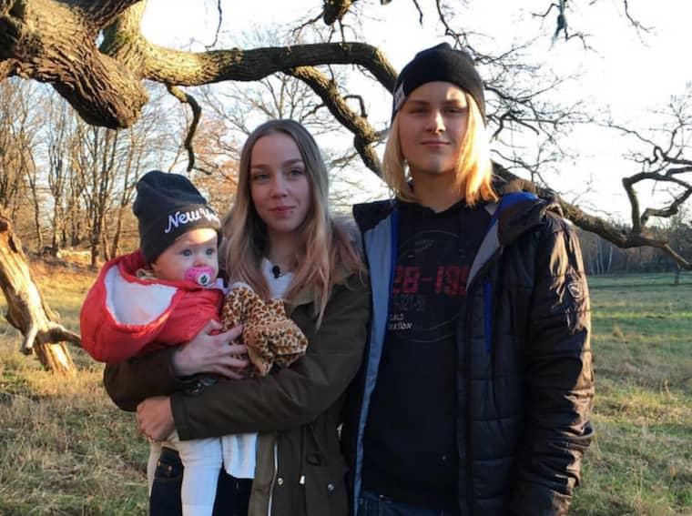 Pontus Rosenborg från Bollnäs var 14 år och Fanny 16 år när dottern Melanie föddes. Foto: Privat