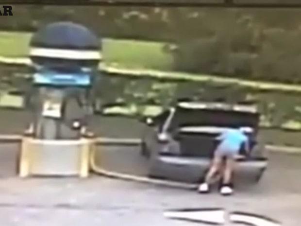 Tjejen skulle bara städa bilen – tänkte inte på att det är osmart att dammsuga upp bensin