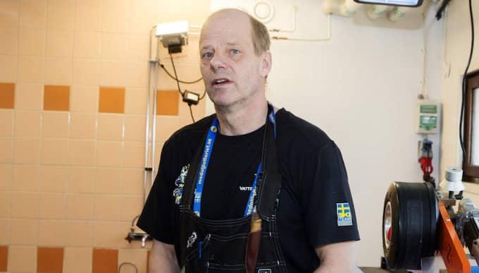 Lorentz Söderhielm, slipare i svenska skidlandslaget. Foto: Nils Petter Nilsson