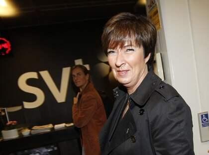 Mona Sahlin avslutar valracet i Stockholm.
