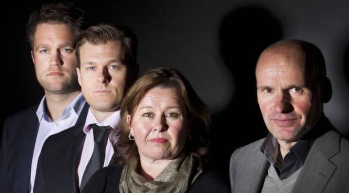 Odd Ivar Groen, Tord Jordet, Vibeke Hein Baera och Geir Lippestad. Foto: Heiko Junge