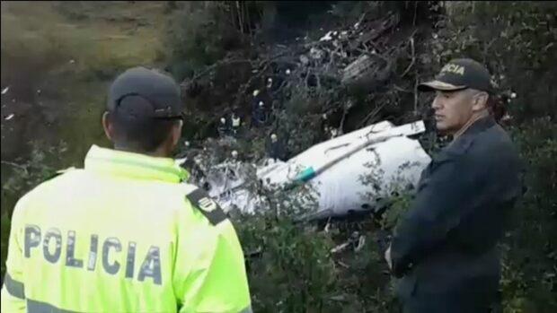 Hemska bilderna från flygkraschen i Colombia