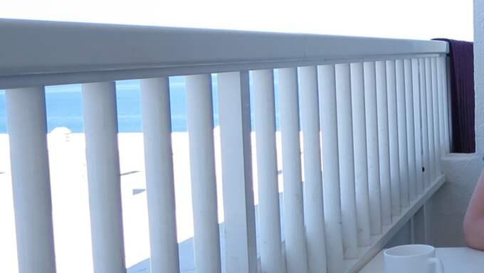 Här är balkongen där Carolina Wallin bodde. Foto: Carolina Wallin