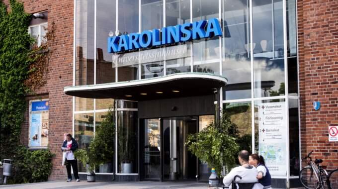 Karolinska universitetssjukhuset. Foto: Marcus Ericsson / Bildbyrån
