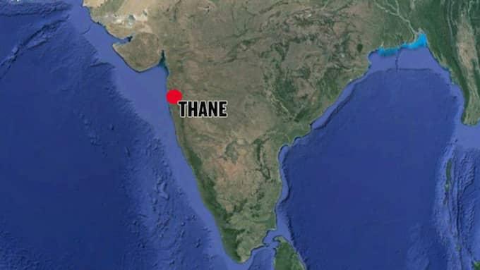 Mannen i Thane i indien högg ihjäl 14 släktingar och tog sedan livet av sig själv. Foto: Google Earth/Expressen