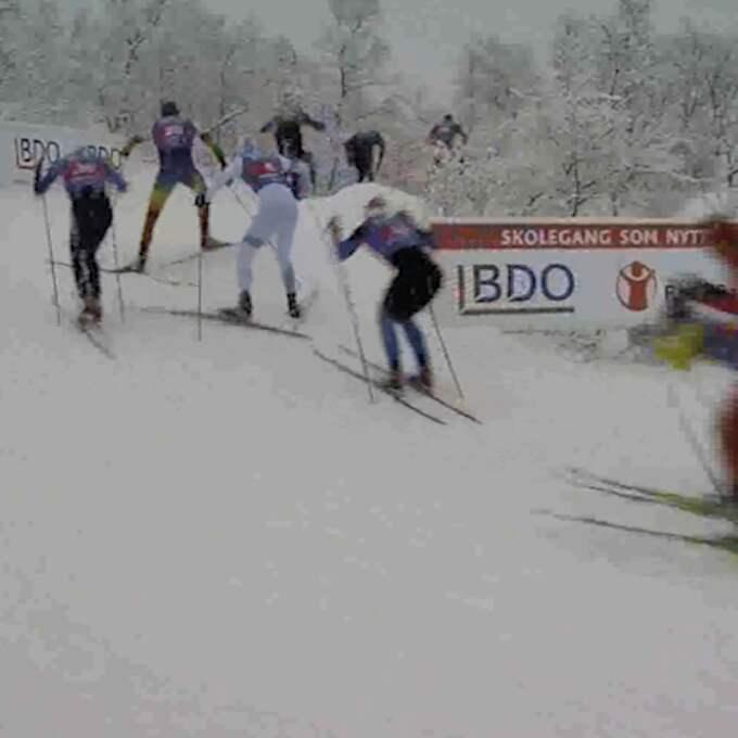 Här syns de norska åkarna saxa upp. Foto: Langrenn.com