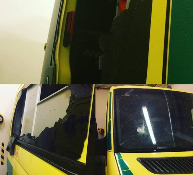 """""""Det är fruktansvärt. Det är väldigt oroväckande att vi blir utsatta"""", säger ambulanssjukvårdaren Pär Johansson. Foto: Karin Brolin"""