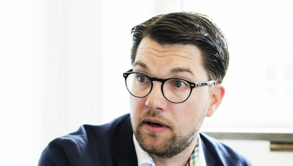 Sverigedemokraternas partiledare Jimmie Åkesson. Foto: Anna-Karin Nilsson