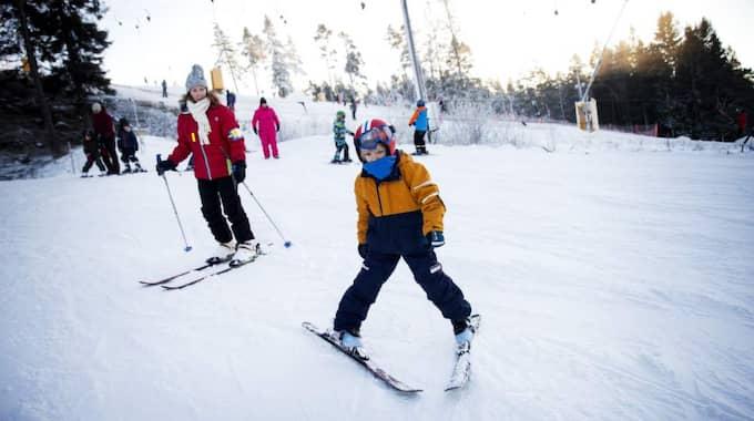 Paula Lemsjö med sonen Ossian, 7 år Foto: Anders Ylander