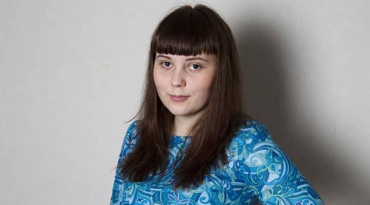 Björk Mirjamsdotter är bloggare och har gett ut diktboken Bumps poesi. Foto: Sven Lindwall