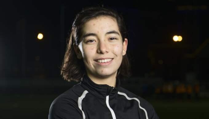 Franska juniorlandslagsspelaren Annahita Zamanian, 17, är klar för Göteborg FC. Foto: Robin Aron