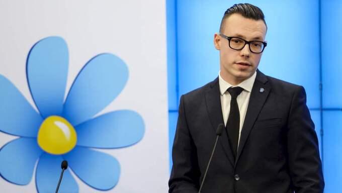 Joakim Wallerstein, kommunikationschef hos Sverigedemokraterna och ansvarig för kampanjen. Foto: Per Larsson / Tt