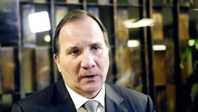 Statsminister Stefan Löfven, som pressas hårt efter han öppnat för ett tiggeriförbud. Foto: Anna Svanberg