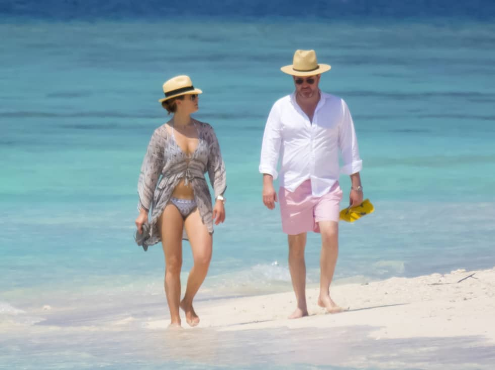 Prinsessan Madeleine och Chris O'Neill har lämnat januarikylan för att koppla av på Maldiverna. Foto: AOP-IBL