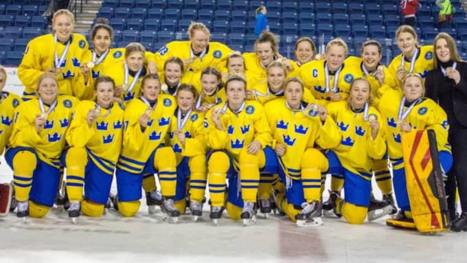 Det svenska bronslaget. Foto: Adam Göransson.