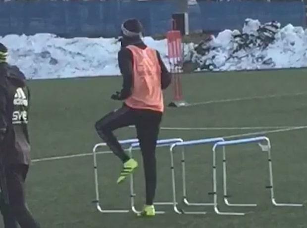 Alexander Isak tillbaka på AIK:s träning