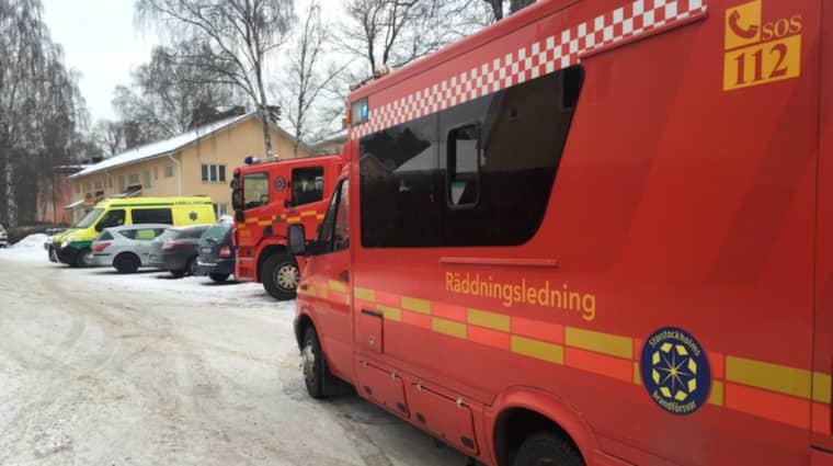 """Polis och räddningstjänst larmades om """"överhängande fara för explosion"""" på The British International School of Stockholm i Djursholm. Foto: Janne Åkesson/Swepix"""