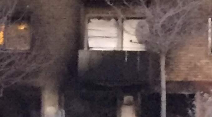 Lägenheten där det sprängdes. Foto: Mimmi Nilsson